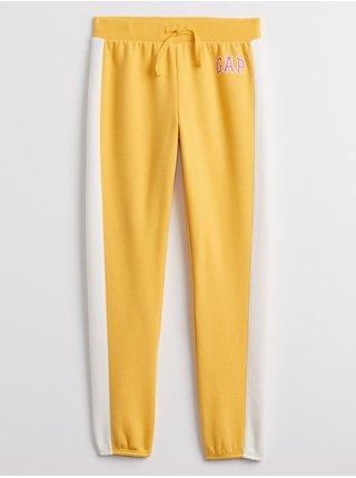 Žluté holčičí tepláky GAP Logo joggers