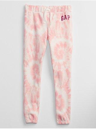 Růžové holčičí tepláky GAP Logo joggers