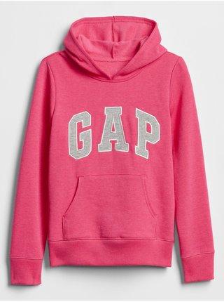 Růžová holčičí mikina GAP Logo hoodie sweatshirt