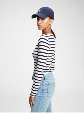 Modré dámské tričko modern boatneck t-shirt