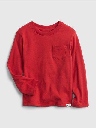 Červené klučičí tričko Toddler Organic bavlna Mix and Match T-Shirt