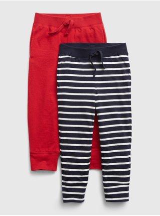 Červené klučičí tepláky 100% organic bavlna mix and match pull-on pants, 2k