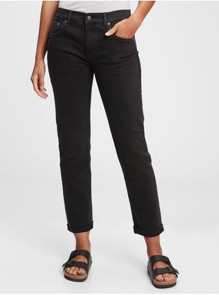 Černé dámské džíny mid rise girlfriend jeans
