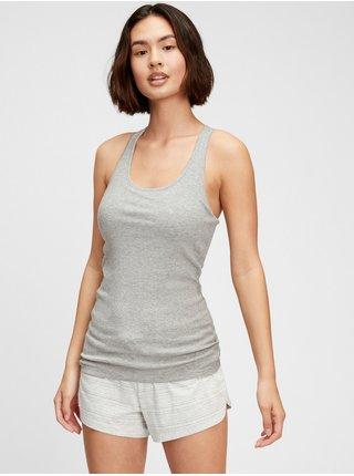 Šedé dámské pyžamo vý top ribbed support tank top