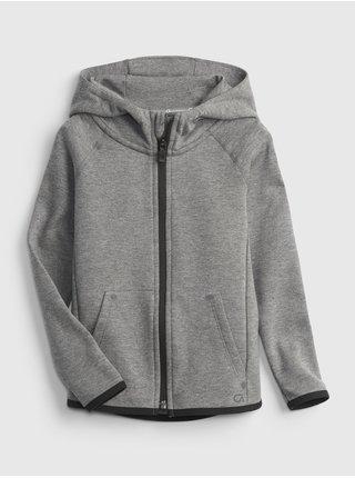 Šedá klučičí mikina GapFit ech hoodie