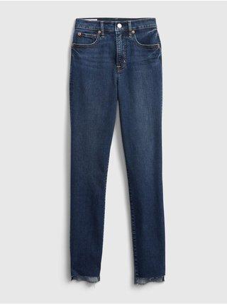 Modré dámské džíny true skinny dune angled hem