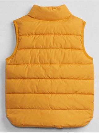 Žlutá holčičí vesta Detská puffer