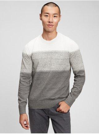 Šedý pánský svetr everyday crewneck sweater