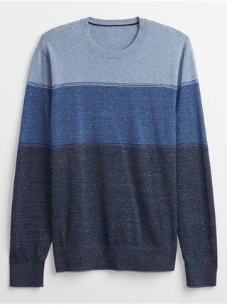 Modrý pánský svetr everyday crewneck sweater