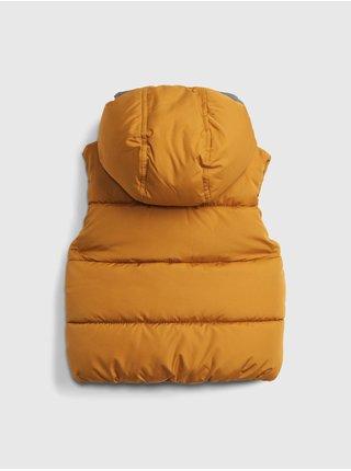 Žlutá klučičí vesta warmest