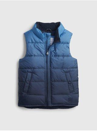 Modrá klučičí bunda warmest vest