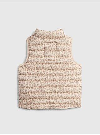 Béžová holčičí vesta winter vest