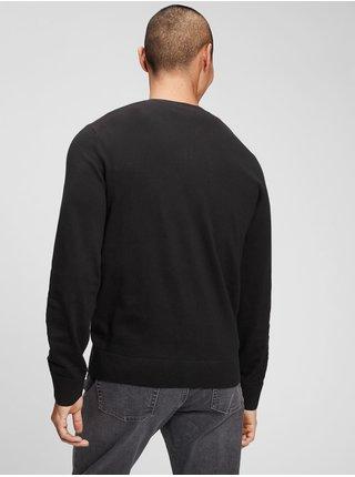 Černý pánský svetr v-neck sweater