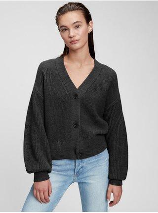 Černý dámský svetr v-neck mixed stich