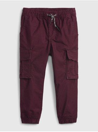 Vínové klučičí kalhoty everyday cargo joggers