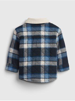 Modrá klučičí bunda plaid jacket bunda plaid jacket