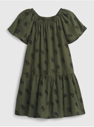 Zelené holčičí šaty šaty tiered gauze dress