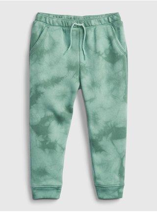 Zelené holčičí tepláky fash fleece joggers
