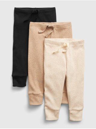 Černé klučičí kalhoty pull-on knit pants, 3ks