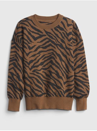 Barevný holčičí svetr novelty slouchy pullover