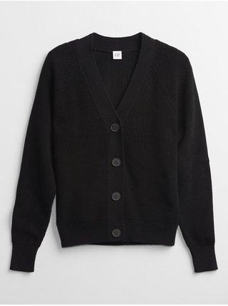 Černý dámský svetr long sleeve cardi