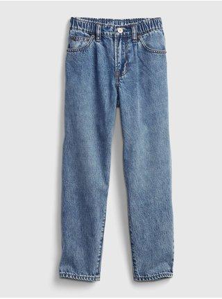Modré holčičí džíny džinsy barrel barrel
