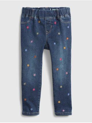 Modré holčičí džíny džinsy ankle jegging ankle jegging