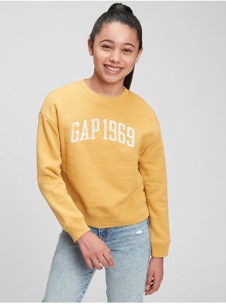 Žlutá holčičí mikina GAP Logo crew