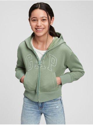Zelená holčičí mikina GAP Logo hoodie