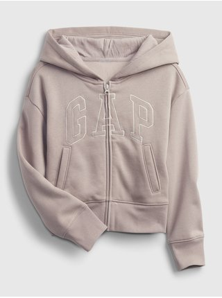 Béžová holčičí mikina GAP Logo hoodie