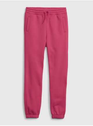 Růžové holčičí tepláky slouchy joggers
