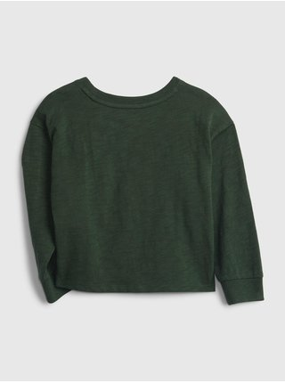 Zelené holčičí tričko GAP Logo better t-shirt