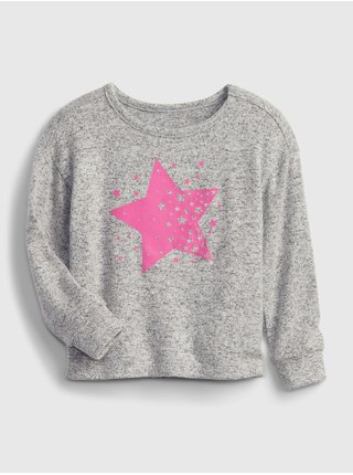 Šedé holčičí tričko snit graphic t-shirt