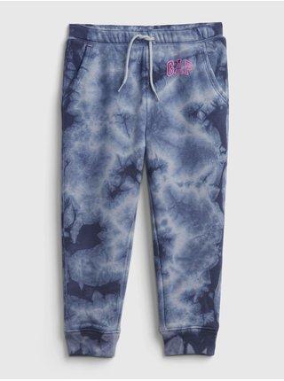 Modré holčičí tepláky GAP Logo tie-dye joggers