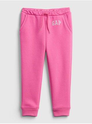 Růžové holčičí tepláky GAP Logo fleece joggers