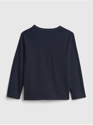 Modré klučičí tričko fire truck graphic t-shirt