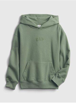 Zelená klučičí mikina GAP Logo pocket hoodie