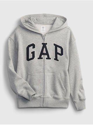 Zelená klučičí mikina GAP Logo arch hoodie