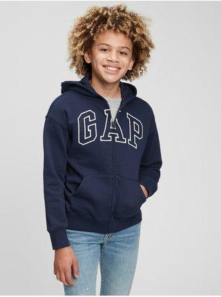 Modrá klučičí mikina GAP Logo arch hoodie