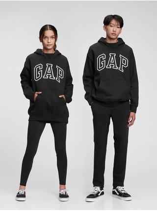 Černá klučičí mikina GAP Logo arch hoodie