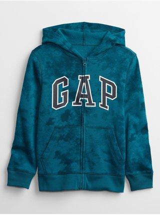 Modrá klučičí mikina GAP Logo fall fashion hoodie