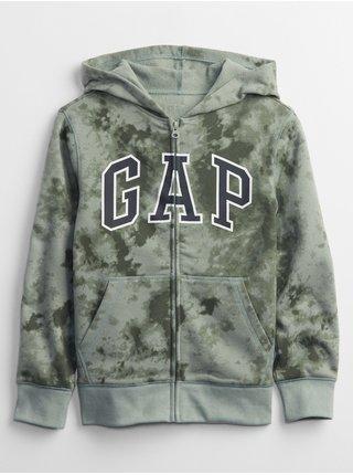 Zelená klučičí mikina GAP Logo fall fashion hoodie