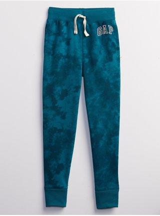 Modré klučičí tepláky GAP Logo fall fashion jogger