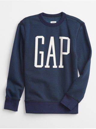 Modrá klučičí mikina GAP Logo crew