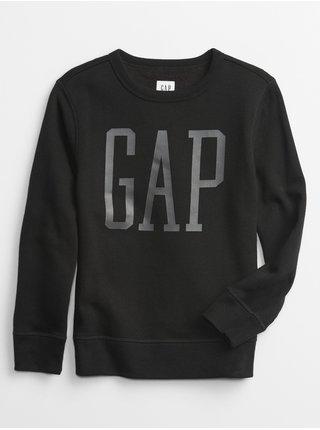 Černá klučičí mikina GAP Logo crew