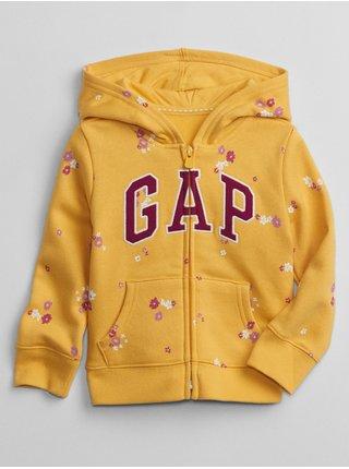 Žlutá holčičí mikina GAP Logo pocket hoodie