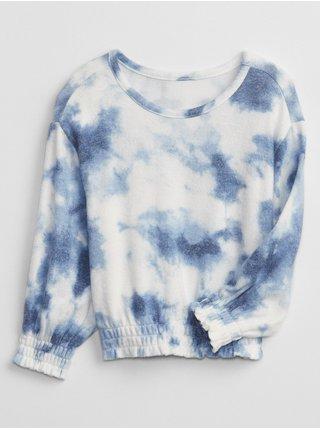 Modrá holčičí mikina tie-dye snit smck top