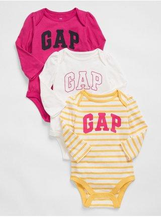Barevné holčičí body GAP Logo bodysuit, 3ks