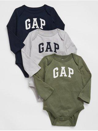 Barevné klučičí body GAP Logo bodysuit, 3ks