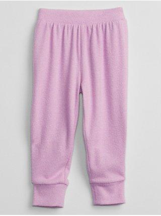 Růžové holčičí tepláky pull-on jogger